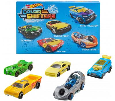 Набор из 5 машинок Hot Wheels Color Shifters в ассортименте