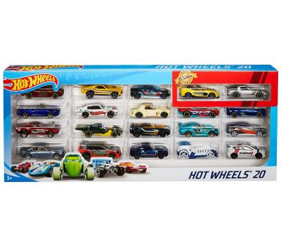 Базовый набор из 20 машинок Hot Wheels в ассортименте
