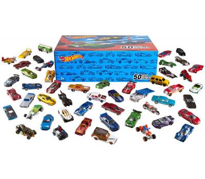 Набор подарочный 50 машинок Hot wheels