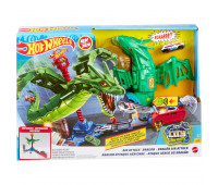 Трек Hot Wheels Сити Воздушная атака дракона-робота GJL13