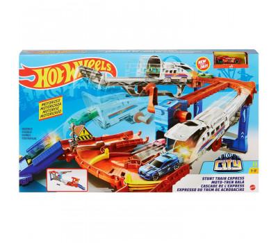 Набор трюковой Hot Wheels Поезд-экспресс GRW38