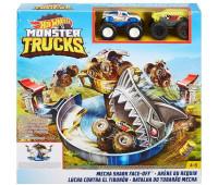 Игровой набор Столкновение с механической акулой Monster Trucks Hot Wheels